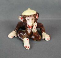 Rare Vintage Mid Century Porcelain Monkey Figure Statue Made in Japan
