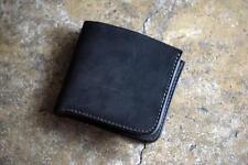 ROBERU Short Wallet Shading Leather Black Hand made TAKUMI Japan New