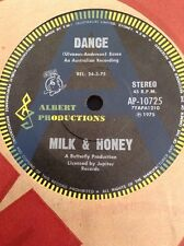 "MILK & HONEY A RADIO PROMO  DANCE ABBA RARE  AUSTRALIA  45 7"" ALBERT PRODUCTIONS"