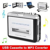 USB 2.0 Cinta de cassette a PC MP3 CD Coverter Captura Reproductor de música de