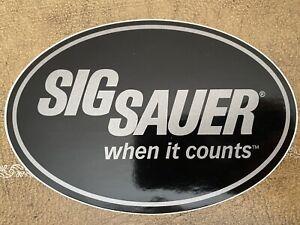 "Sig Sauer ""When It Counts"" Decal Sticker Shooting Gun Bag Range Tactical SWAT!"