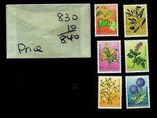 YUGOSLAVIA FLOWERING PLANT SERIES SET OF 6v MNH STAMPS CV $8.40