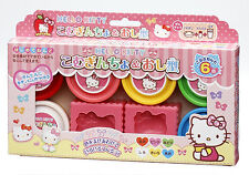Hello Kitty Kids Toy Wheat Flour Clay Salt Dough 6 colors and 2Molds set