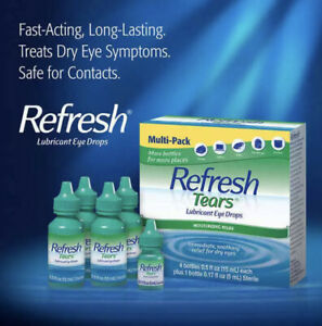 Refresh Tears Lubricant Eye Drops Multi-Pack 4 Bottles +1 Bonus Bottle Exp 12/22
