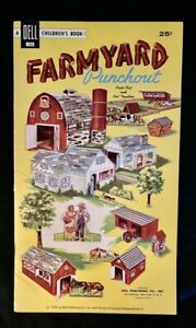 1959 DELL PUNCHOUT BOOK FARMYARD ORIGINAL UNPUNCHED
