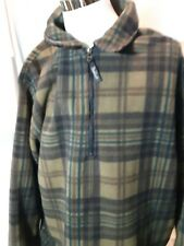 Vintage WOOLRICH Outdoor Polartec Fleece Zip Plaid Jacket 2XL MADE IN USA