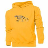 Chameleon Skeleton Print Sweatshirt Unisex Hoodies Graphic Hoody Hooded Tops