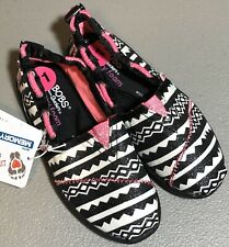 Lil Bob's World By Sketcher's Kids Slip-On Sneakers NWT White Black Pink 11