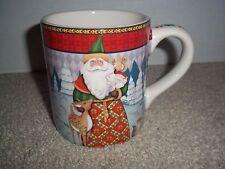 Jim Shore Holiday Traditions Christmas Santa Coffee Tea Mug Rare