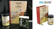 MOULINSART PACK TINTIN AU CONGO CAFE LION EDITION NUMEROTEE FIGURINES PORTFOLIO
