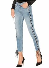 NWT $248 GRLFRND Karolina High-Rise Skinny Jean Sz 24 Imperial Wash Lace Up Side