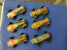 Lot Of Six Vintage Rare Tin Toy Racing Car Russian USSR Olympic Moscow 1980