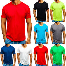 T-Shirt Tee Kurzarm Classic Rundhals V-Neck Herren Mix BOLF 3C3 Unifarben