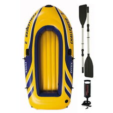 Intex Challenger 3 Man Inflatable Dinghy Boat + Aluminium Oars + Pump #68370