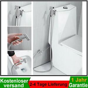 Bidet Brause Halter + Edelstahl WC Hand Duschkopf Intim Hygiene Dusche Bad Set
