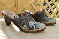 ICON PUG DOG Clogs/Mules/Shoes Size 7.5