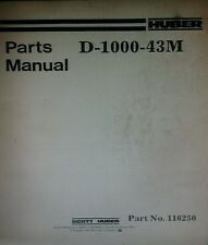 Huber Grader Parts & Service Manual 158p D-1100 D-1300 D-1400 D-1500 D-1700 CAT