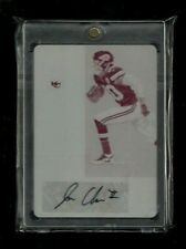 Jehu Chesson Contenders ROOKIE TICKET Print Plate Auto #1/1! Chiefs! WOLVERINES!
