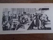 PRESTON LANCASHIRE Soup Kitchen Industrial North 1862 B/W Print c19th