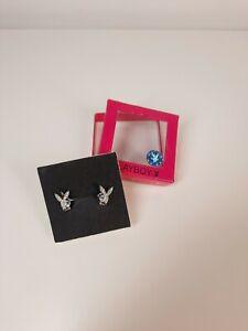 Playboy Bunny Earrings Studs Vintage Y2K Genuine 2000s WITH BOX