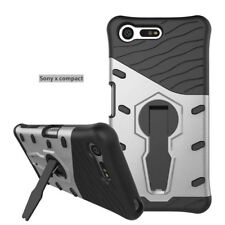 360° Rotating Kickstand Shockproof Armor Hybrid Case Cover for Sony