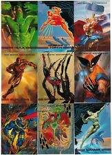 1993 MARVEL MASTERPIECES SERIES 2 FLEER SKYBOX COMPLETE CARD SET #1-90 WRAPPERS