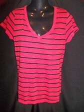 OP Red & Black Soft Knit Top Shirt Jr. Women's Size large 11/13
