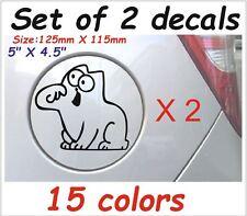 2 X Simons cat #2 Funny Gas Fuel Tank Animals Decals Stickers Graphics Vinyl I