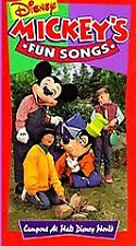 Sing Along Songs - Mickeys Fun Songs: Campout at Disney World (VHS, 1994)