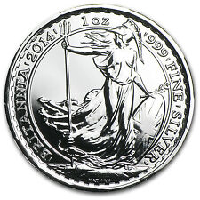 2014 1 oz Silver Britannia BU (w/Year of the Horse Privy Mark) - SKU #81184