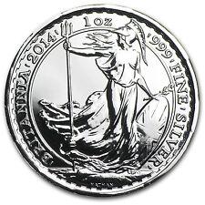 2014 Great Britain 1 oz Silver Britannia - Year of the Horse Privy - SKU #81184
