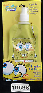 Shark Skinzz Spongebob Reusable Folding 12 oz bottle 010698