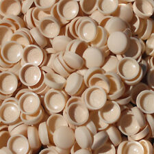 50 x LARGE MARL BEIGETWO PIECE DOME SCREW CAP COVERS SNAP CAPS PRO-DEC FIXINGS