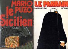 LOT DE 2 LIVRES MARIO PUZO / LE PARRAIN + LE SICILIEN / GRAND FORMAT