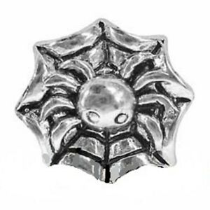 SILVER  PLATED  HALLOWEEN   SPIDER WEB CHARM ** SCARY