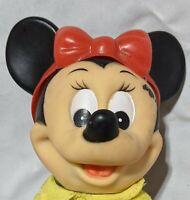 "Minnie Mouse 7"" Vinyl Figure Walt Disney Productions R. Dakin Vintage Mickey Toy"