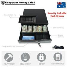 Electronic/Manual Security Lockable Cash Box Tray Money Drawer Safe Storage Keys