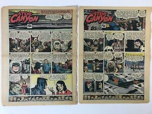 Steve Canyon by Milton Caniff, Sunday Tabs, 1955, Lot of 49 Pages