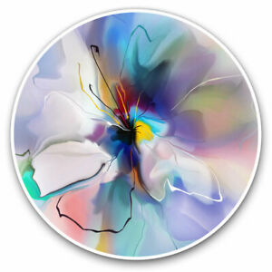 2 x Vinyl Stickers 7.5cm - Abstract Blue Violet Flower Cool Gift #2822