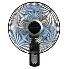 "Wall Mount Fan Remote Oscillating Living Room Silent Universal Indoor Black 16"""