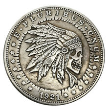 US 1921 Indian Skull Nickel Coin Zombie Metal Silver History Game Stamp Hobo