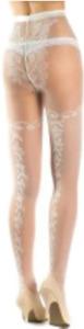 "Trasparenze Cefalonia Ivory Floral Tights Seta Size 2 for 4ft 9"" - 5ft 9"" bride"