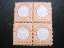 GERMANY 1872  MI.NR.15 SMALL SHIELD  ORANGE MNH BLOCK CERT. $720