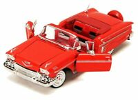 Chevrolet Impala 1958 - Red,  Classic, Model Car, Motormax 1/24