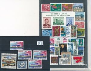 Iceland -  lot of mint stamps - MNH