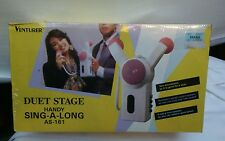 New listing Venturer Duet Stage Handy Sing -a-along #As161 Microphones Set