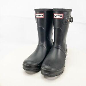 Hunter Black Short Rain Boots - US Size 5M / 6F