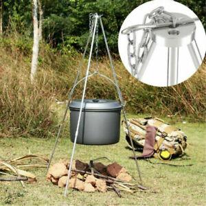 Outdoor Camping Fire Dutch Oven Cooking Tripod Campfire Picnic Pot Roast UK