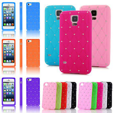 Diamond Silicon Phone Case Cover For Apple iPhone 4/5 Samsung S3/S4/S5 S4 Mini