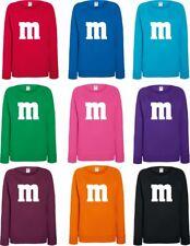 Für M&M Kostüm Fans Damen Sweater Trend 2018 Karneval Fasching Gruppenkostüm
